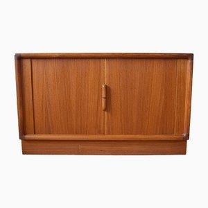Danish Mid-Century Teak Tambour Door Cabinet, 1960s
