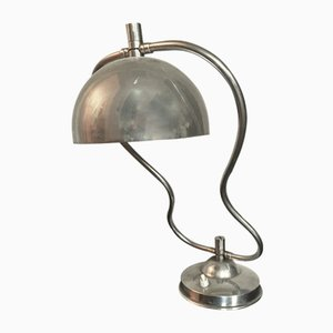 Art Deco Chrome Plated Table Lamp, 1930s