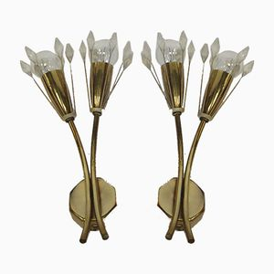 Vintage Sconces by Emil Steijnar for Rupert Nikoll, 1960s, Set of 2