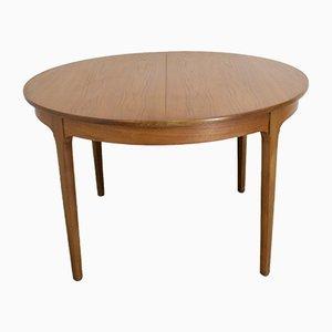 Mesa de comedor extensible de chapa y teca de Nathan, años 60
