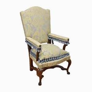 Antique French Walnut Reclining Armchair