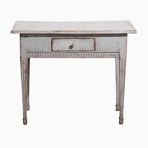 Antique Gustavian Wooden Freestanding Console Table