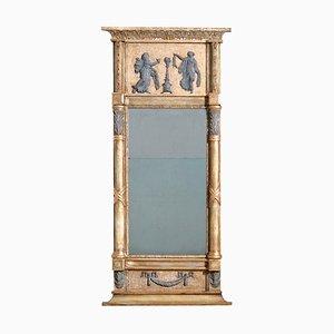 Specchio gustaviano in legno dorato, XIX secolo