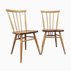 Windsor Esszimmerstühle von Lucian Ercolani für Ercol, 1960er, 2er Set