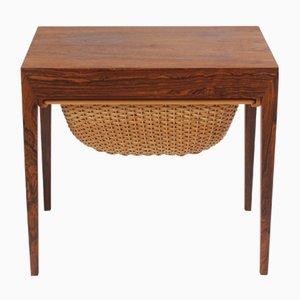 Werktisch aus Palisander von Severin Hansen für Haslev Møbelsnedkeri, 1960er
