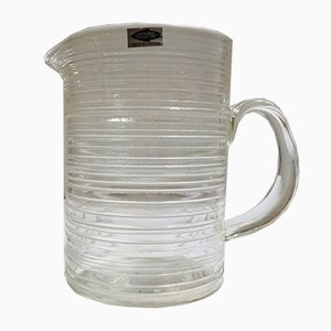 Scandinavian Modern Glass Pitcher by Tapio Wirkkala for Nuutajärvi, 1960s