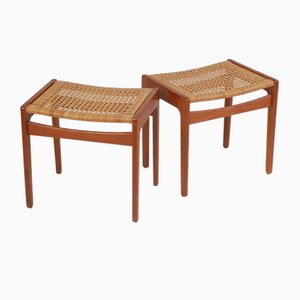 Danish Teak Stools by Hans J. Wegner for Getama, 1960s, Set of 2
