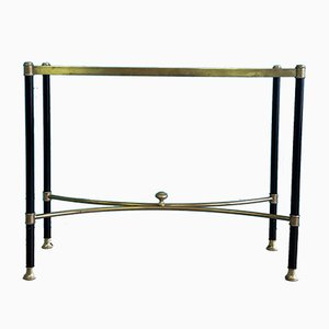 Vintage French Brass and Glass Console Table, 1970s