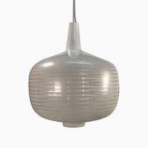 Lámpara colgante alemana de vidrio, años 50