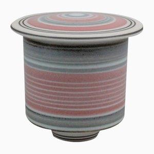 Maceta de porcelana con tapa de Johan Broekema, años 90