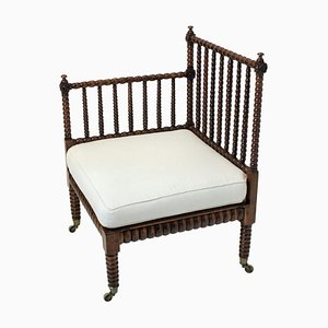 Antique Bobbin Corner Chair, 1820s