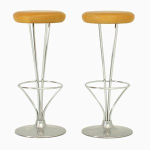 Scandinavian Modern Stools by Piet Hein for Fritz Hansen, 1960s, Set of 2