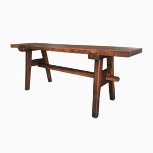 Antique German Oak Dining or Work Table