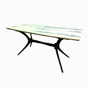 Italian Cherry and Colored Glass Dining Table by Ico & Luisa Parisi, 1950s