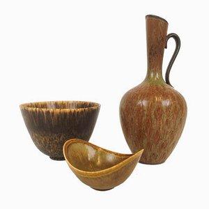 Mid-Century Keramik Set von Gunnar Nylund für Rörstrand