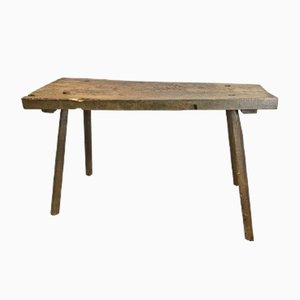 Antique French Rustic Butcher's Block Table
