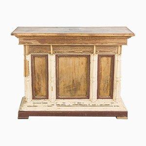 Bancone da negozio antico in legno, Francia