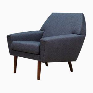 Dänischer Mid-Century Sessel aus Teak & Stoff, 1960er