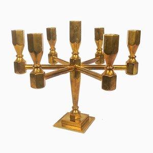 Scandinavian Modern Brass Candleholder from Nordic Brass Gusum, 1978