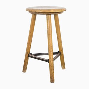 Vintage German Wooden Stool from Ama-Schemel, 1930s