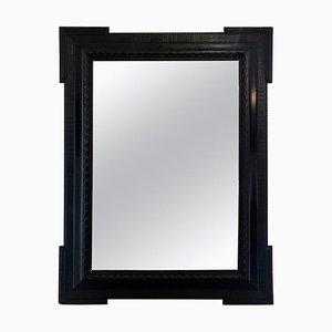 Großer flämischer ebonisierter Spiegel mit Wellenmuster am Rahmen, 1920er