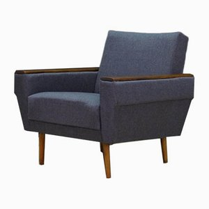 Mid-Century Danish Fabric and Teak Armchair, 1960s