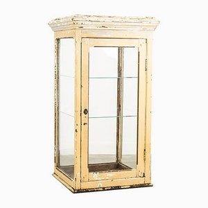 Vintage Glass and Wood Display Case, 1920s