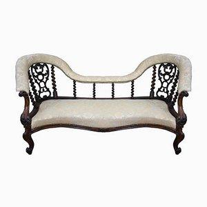 Antike viktorianische Chaiselongue aus Palisander