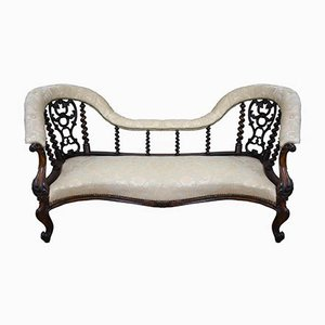 Chaise longue victoriana antigua de palisandro