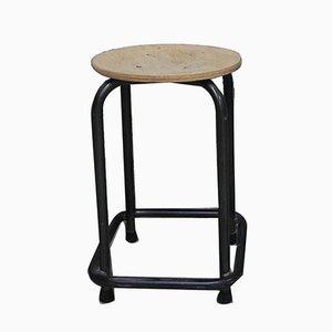 Industrieller Mid-Century Stuhl aus Schichtholz & Stahl, 1960er