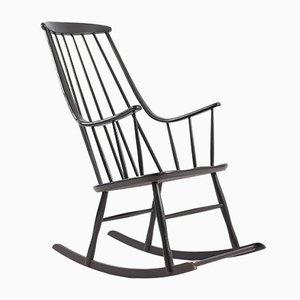 Rocking Chair en Hêtre par Lena Larsson pour Nesto, 1960s
