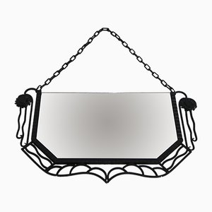 Vintage Art Deco French Mirror, 1930s