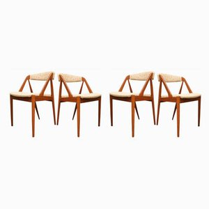 Danish Teak Dining Chairs by Kai Kristiansen for Schou Andersen, 1950s, Set of 4