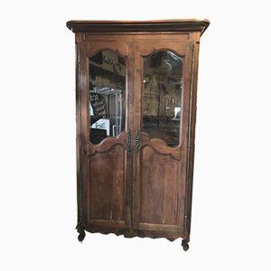 Antique Louis XV Style French Walnut Wardrobe