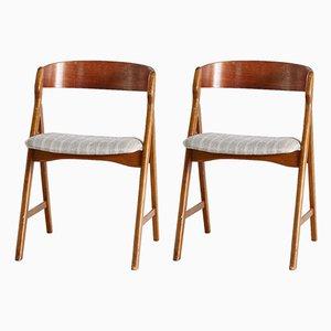 Dänischer Modell 71 Stuhl aus Teak von Henning Kjærnulf für Boltings Stolefabrik, 1960er, 2er Set
