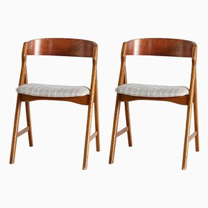 Danish Teak Model 71 Chair by Henning Kjærnulf for Boltings Stolefabrik, 1960s, Set of 2