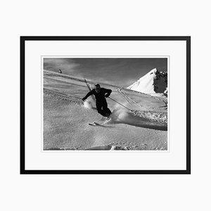 Ski Run Druck von Bert Hardy