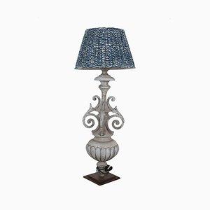 Antike Stehlampe aus Zink