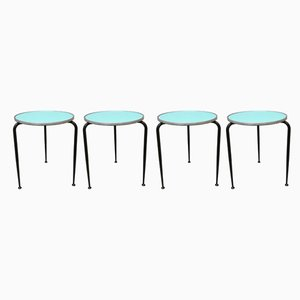 Italian Iron and Formica Side Tables from Camm, 1950s, Set of 4