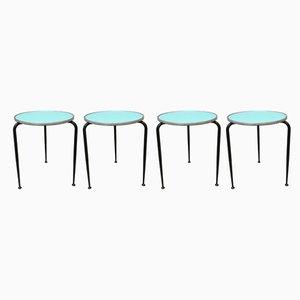 Tavolini in ferro e formica di Camm, Italia, anni '50, set di 4