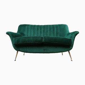 Mid-Century Italian Velvet Sofa, 1950s