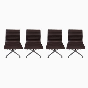 Aluminum and Vinyl Lounge Chairs by Charles & Ray Eames for Herman Miller, 1960s, Set of 4