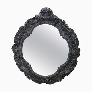 Large Antique Carved Walnut Wall Mirror, 1880s