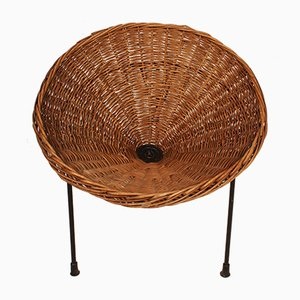 Italian Wicker Sunflower Chair by Roberto Mango for Tecno, 1950s