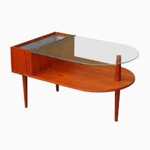 Table Basse avec Jardinière de CFC Silkeborg, Danemark, 1960s