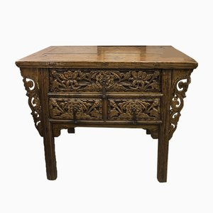 Antique French Oriental-Style Elm Dresser Table