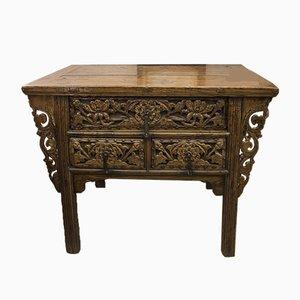 Mesa de oficina francesa antigua oriental de olmo