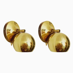 Mid-Century Brass Sconces, 1960s, Set of 2