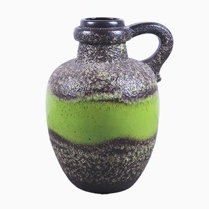 Large Vintage Fat Lava Ceramic Vase from Scheurich, 1970s
