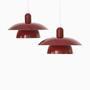 Danish Pendant Lights from Hamalux, 1970s, Set of 2